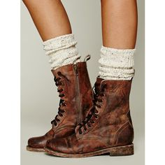 Free People FREEBIRD by Steven Fletch Lace Up Boot ($198) found on Polyvore
