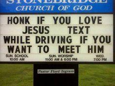 honk if you love Jesus