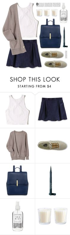 """Outfit of the day"" by deepwinter ❤ liked on Polyvore featuring Hollister Co., Vans, Karen Walker, Laura Geller and Herbivore"