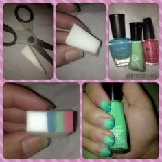 Picture Tutorial: Gradient Nails ,