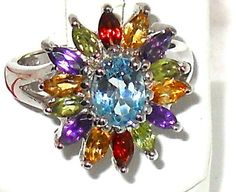 Gorgeous colors! 3.34ctw Topaz Amethyst Citrine Garnet Peridot Ring   http://stores.ebay.com/JEWELRY-AND-GIFTS-BY-ALICE-AND-ANN
