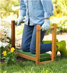 USA-Made Cedar Garden Kneeler Seat