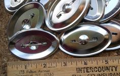 10 Oval Silver Tone Metal Brooch Pin Blanks EPSteam supply jewelry findings supplies re-purpose recycle by Scentedlingerie on Etsy