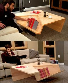 Clever coffee table design.