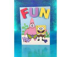 Spongebob and Patrick FUN Greeting Card   Squarepants   Star   Bikini Bottom   Best Friends   BFF   Birthday   Squidward   Anniversary   by SwordandWhetstone on Etsy https://www.etsy.com/listing/545041712/spongebob-and-patrick-fun-greeting-card
