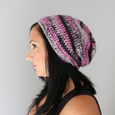 Pink Berry Blend Toboggan Slouchy Hat