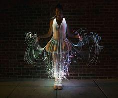 Illuminated costumes on Instructables