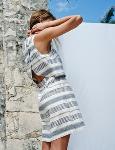 madewell open-back overlay dress.