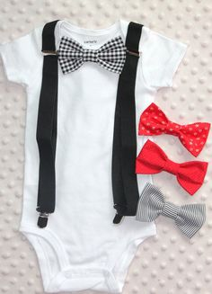 Smash Cake Outfit:  Baby Bodysuit Bow Tie with Suspenders  https://www.etsy.com/ca/shop/CreativeEssentialz