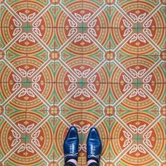 Barcelona Floors Photography – Fubiz Media. Collegio de Abogados. Mesa Bonita has been collecting hydraulic tiles for the past 10 years. All the tiles have been saved from the dumpsters and need a second life. They can be turned into a table, console, frame, trivet… Contact me for information, I have a wide selection of styles, colors and a bunch of ideas: Benedicte Bodard  Mesa Bonita/Barcelona Tiles benedictebodard@gmail.com www.mesabonita.es https://www.pinterest.com/bbodard/