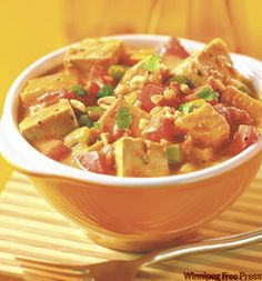 Spicy Peanut Stew with Tofu and Coconut. Slow Cooker. #vegan #stew #recipe