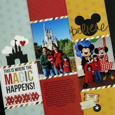 Snippets By Mendi: Another Simple Stories Say Cheese Disney Layout