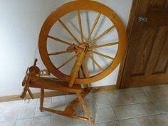 Antique Primitive RARE Spinning Wheel Vintage Saxony Double Drive #NaivePrimitive