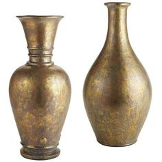 """Gun Metal Metallic Finish Vases - These are too big, but anything in this color direction and shape will work nicely. You need a vase in the following size: 8"""" wide x 8"""" deep x 17""""-19"""" high."""