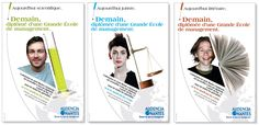 Campagne de recrutement Audencia Communication, Image, Nantes, Rural Area, Communication Illustrations