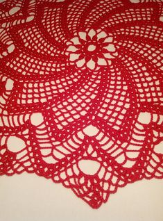 READY TO SHIP Red crochet doily - Round doilies - red doily - Home decor - crochet doilies - Mothe Free Crochet Doily Patterns, Crochet Stitches, Lace Doilies, Crochet Doilies, Mantel Redondo, Doily Wedding, Pattern Pictures, Crochet Round, Handmade Decorations