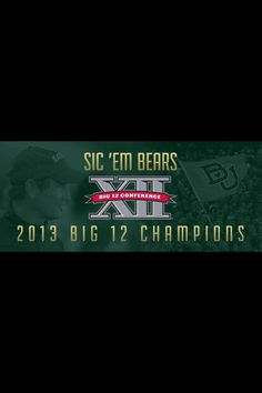 ba286d91 See more. Sic 'em Bears! Baylor University, Champs, Ems, Tailgating,  Athlete,