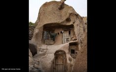 700year old Iranian home made of rock.