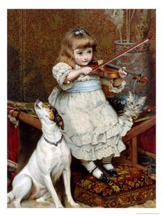 The Broken String- Charles Burton Barber- woehoehoe.....