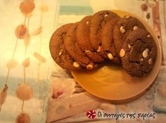 Chocolate chip cookies νηστίσιμα συνταγή από miss piggy Cupcake Cookies, Cupcakes, Lent, Chocolate Chip Cookies, Chips, Treats, Cooking, Desserts, Food