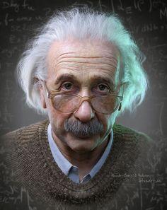 ArtStation - Albert Einstein Portrait for a Hologram, Alexander Beim Albert Einstein Pictures, Albert Einstein Photo, Albert Einstein Quotes, 3d Portrait, Portrait Photography, Zbrush, Photographie Portrait Inspiration, Realistic Paintings, Photoshop Design