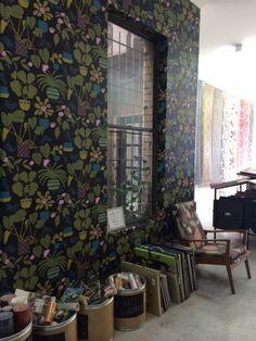 Ikkunaprinssi wallpaper by Marimekko has brightened up the showroom