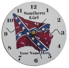Southern Girl Confederate Rebel Flag by thegolfingdolphin on Etsy, $9.75