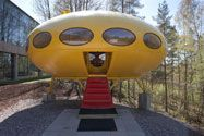 The WeeGee Exhibition Centre has acquired the first ever mass-produced Futuro house (no. 001), which was owned by Matti Kuusla from summer 1968 to autumn 2011 and located in Hirvensalmi. The Futuro, exposed to the elements for over 40 years, will first be carefully restored and then brought to WeeGee's courtyard, where it will be open to the public from 8 May to 16 September 2012. The Futuro exhibition is part of the Design Capital programme.