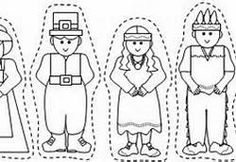 Make Pilgrim puppets for Thanksgiving this year! Templates