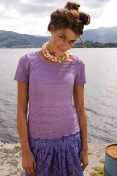 Oleana Norwegian Sweaters, Shell, Top, Silk & Merino Wool, Made in Norway, Solveig Hisdal