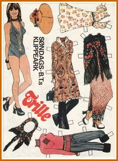 Ingrids Påklædningsdukker: Trille 1973 nr. 25