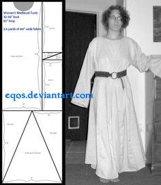 Pattern: Women's Tunic by ~eqos on deviantART