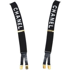 Preowned Chanel Suspenders (€1.525) ❤ liked on Polyvore featuring accessories, suspenders, acc, belts, chanel, other and multiple