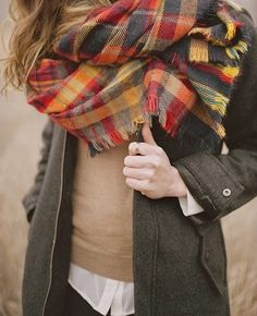 Fall trends; plaid scarves