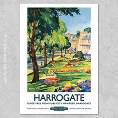 Print of British Railways Harrogate poster.