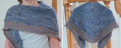 Free Knitting Pattern:  Lightweight Textured Shawl