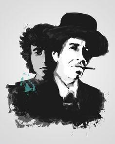 Bob Dylan, Tinted Style   http://www.yourpainting.de/motive-artikel/bob-dylan