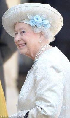 The Queen arrived at Westminster Abbey dressed in all white as members of the Royal Family also gathered to celebrate her reign.