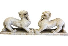 Marble Chimera Figures, Pair on OneKingsLane.com  3,999.00