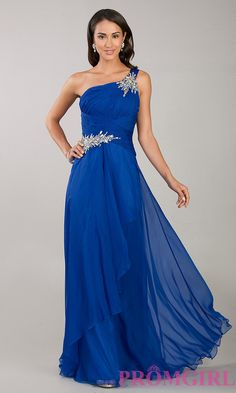 One Shoulder Prom Gowns, Temptation Long Prom Dresses - PromGirl
