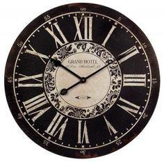 "Find it at <a href=""http://www.bombaycompany.com/"" target=""_blank"">bombaycompany.com</a>  - Hotel Wall Clock"