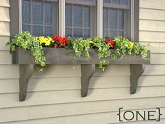 window box with large brackets