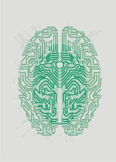 Electronic brain 3 - Circuit (by Tolagunestro) Alphabet Tag, Images Alphabet, Tatoo Art, Tattoo Life, Brain Tattoo, Web Design, Logo Design, Graphic Design, Brain Logo