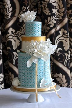 Wafer Paper Punched Wedding Cake - Cake by AC Saldua