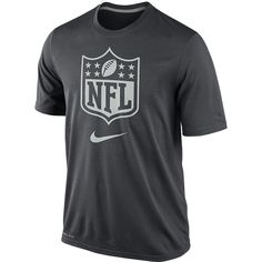 Get ready for this year's NFL Draft in official style with this Legend performance tee from Nike.  It features an NFL Shield on the chest above a Nike Swoosh.  It's also equipped with Nike's DriFIT moisturewicking material to keep you comfortable while you practice your skills just like your favorite Draft picks.  Remember what's bound to be an exciting year for the NFL Draft with this lightweight Tshirt!