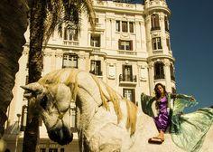 Carros de Foc realizó un espectáculo del 9 de Octubre en Alicante.