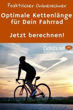 Ganz einfach online die richtige Länge der Fahrradkette berechnen - Kettenlänge Rechner online. Fahrrad DIY - für Selberschrauber. #Fahrrad #rennrad #MTB #Kettenlänge #Fahrradkette #DIY Triathlon, Mtb, Bike, Movies, Movie Posters, Europe, Ride A Bike, Bike Rides, Bicycle