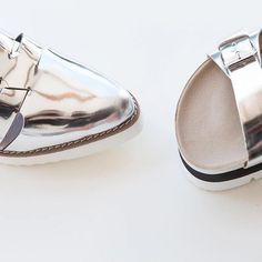 Silver mirror  shoes
