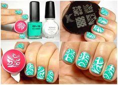 Como pintar las uñas con sellos – Paso a paso   Decoración de Uñas - Manicura y Nail Art