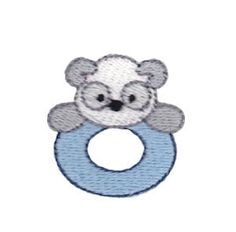 Mini Teething Ring Filled - 4X4! | Baby | Machine Embroidery Designs | SWAKembroidery.com Bunnycup Embroidery